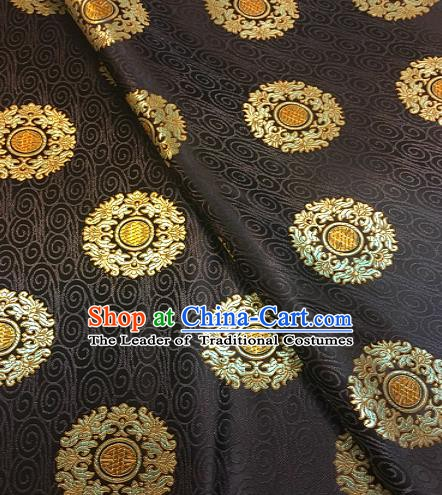 Chinese Traditional Fabric Tang Suit Coffee Brocade Chinese Fabric Asian Tibetan Robe Material