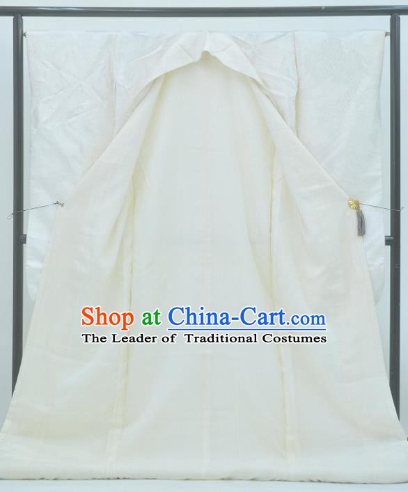 Japan Traditional Wedding Costume Shiromuku Yukata Dress Japanese White Furisode Kimono for Women
