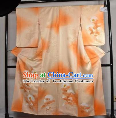 Japan Traditional Kimonos Costume Yukata Dress Japanese Furisode Kimono for Women
