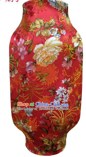 Traditional Chinese Lantern Handmade Ancient Red Lantern Peony Flowers Lanterns Festival Lamps