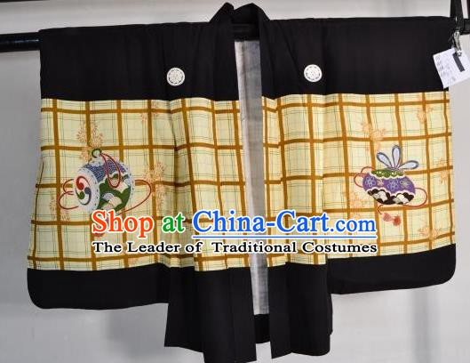 Japanese Traditional Yukata Robe Clothing Japan Samurai Haori Kimonos for Kids
