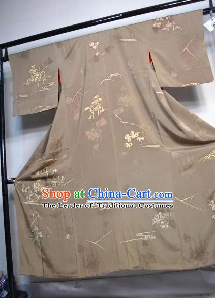 Japanese Traditional Coffee Yukata Japan Samurai Haori Kimonos Robe Clothing for Men