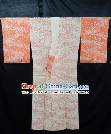 Traditional Japan Palace Furisode Kimono Costume Japanese Yukata Dress for Women