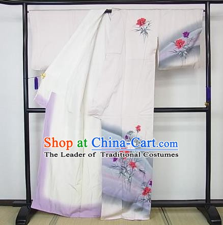 Japan Palace Lady Shiromuku Furisode Kimono Costume Traditional Japanese Yukata Dress for Women