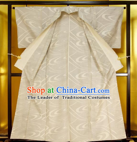 Japan Traditional Furisode Kimonos Costume Japanese White Yukata Dress for Women