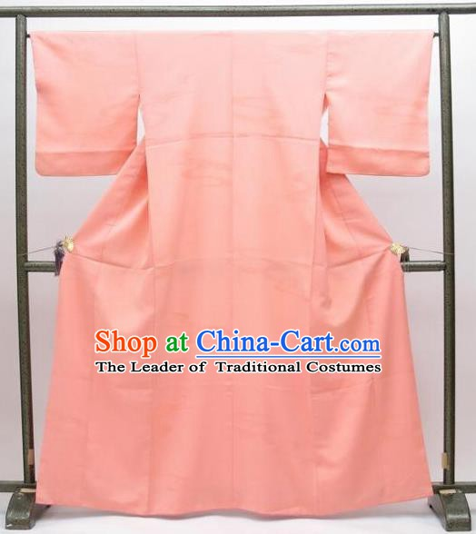 Japan Traditional Pink Furisode Kimonos Costume Japanese Shiromuku Yukata Dress for Women