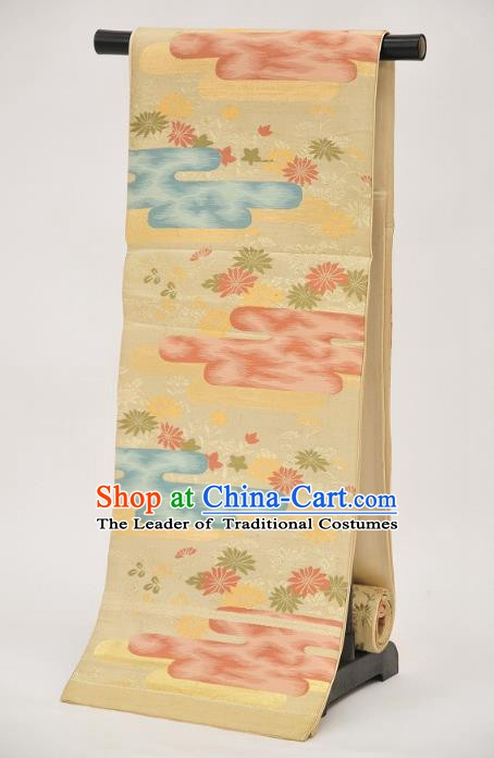 Traditional Japanese Kimono Printing Brocade Belts Kimonos Yukata Waistband for Women