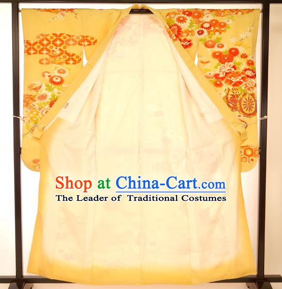 Japan Traditional Palace Kimono Formal Costume Furisode Kimonos Printing Yukata Dress for Women