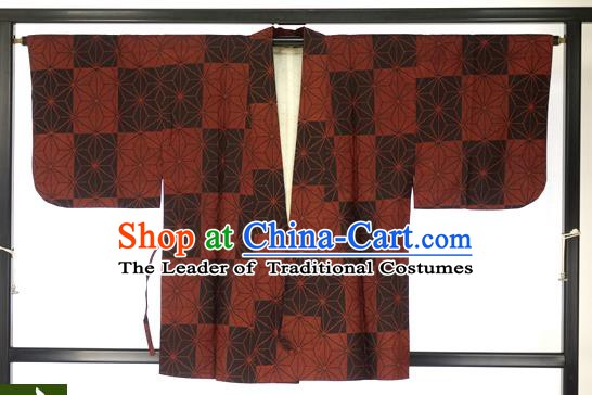 Japanese Ancient Kimono Costume Traditional Wafuku Hakama Haori Shirts for Men