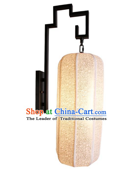 Handmade Traditional Chinese Sheepskin Lantern Wall Lamp New Year Lantern