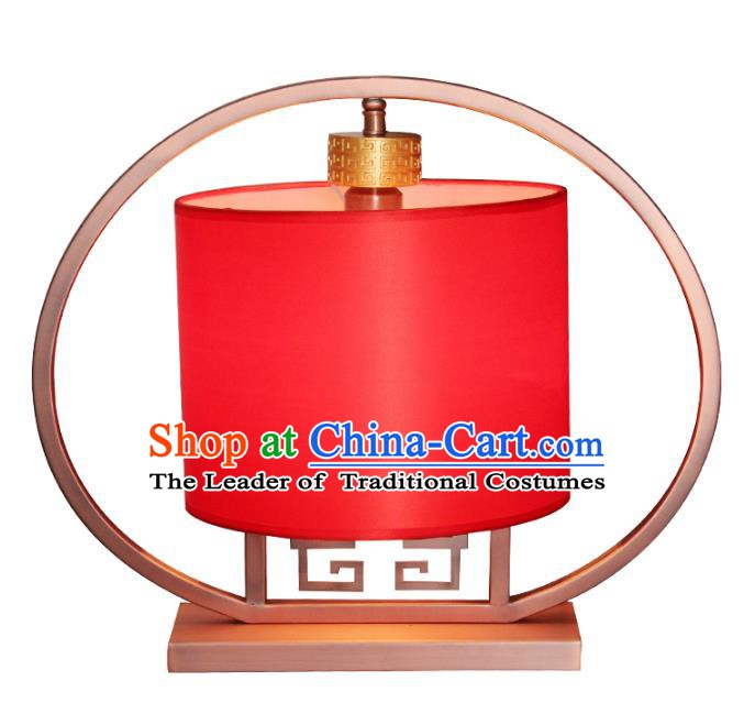 Handmade Traditional Chinese Red Lantern Desk Lamp New Year Lantern