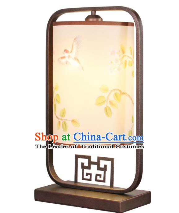Handmade Traditional Chinese Lantern Desk Lamp Hand Painting Lantern