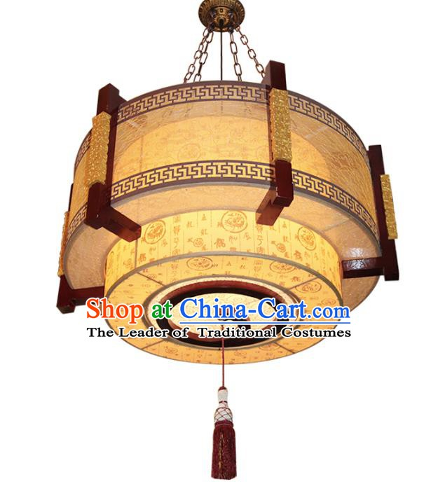 Handmade Traditional Chinese Ancient Palace Lantern Ceiling Lanterns Wood Lanern