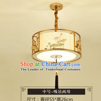 Asian China Traditional Handmade Lantern Lotus Flowers Ceiling Lamp Ancient Palace Lanern