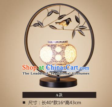 Traditional Asian Chinese Lantern China Ancient Ceramics Desk Lamp Electric Palace Lantern