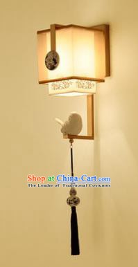 Handmade Traditional Chinese Lantern China Style Wall Lamp Golden Frame Electric Palace Lantern