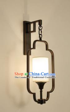 Handmade Traditional Chinese Lantern China Style Black Wall Lamp Electric Palace Lantern
