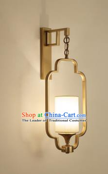 Handmade Traditional Chinese Lantern China Style Golden Wall Lamp Electric Palace Lantern