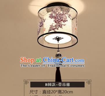 Traditional Chinese Handmade Lantern Classical Tassel Ceiling Lamp Ancient Round Lanern