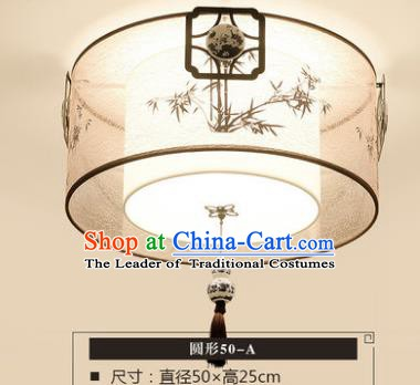 Traditional Chinese Handmade Lantern Classical Bamboo Round Ceiling Lamp Ancient Lanern