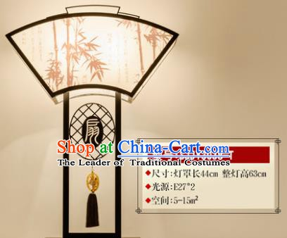 Traditional Asian Chinese Lantern China Ancient Electric Fan Desk Lamp Palace Lantern