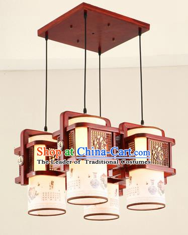 China Traditional Handmade Ancient Orchid Hanging Lantern Palace Lanterns Ceiling Lamp