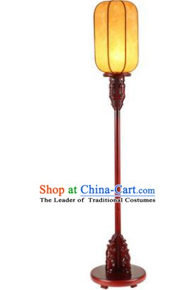 Traditional Asian Chinese Lanterns China Ancient New Year Yellow Floor Lamp Palace Lantern