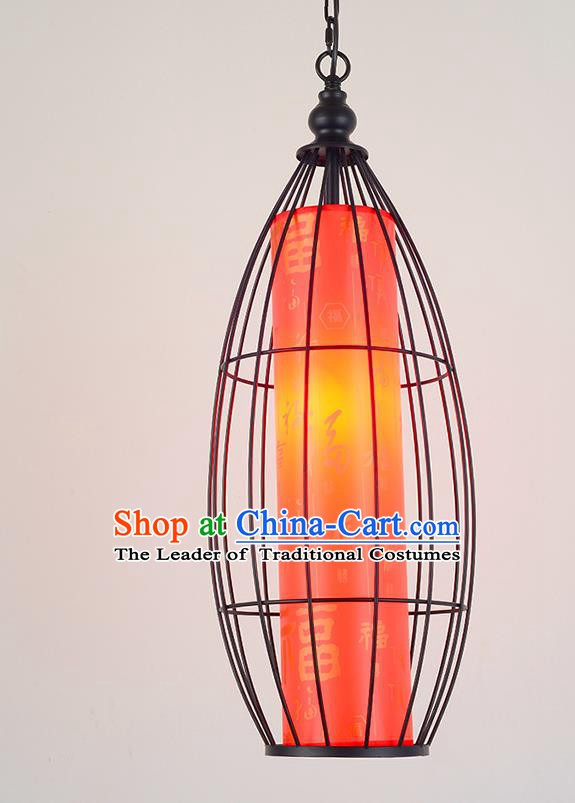 Traditional China Handmade Red Hanging Lantern Ancient Lanterns Palace Ceiling Lamp