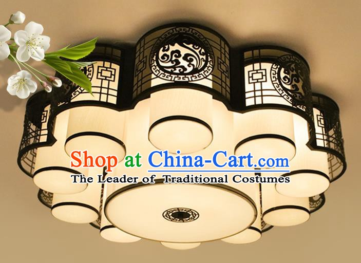 Traditional China Hand Carving Lantern Ancient Lanterns Palace Ceiling Lamp