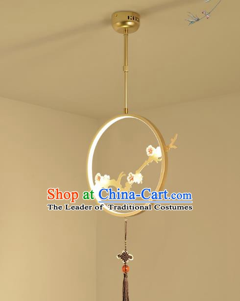Traditional China Handmade Lantern Ancient Golden Hanging Lanterns Palace Ceiling Lamp