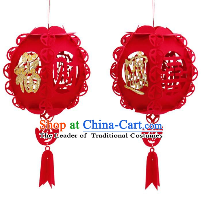 China Handmade New Year Red Lantern Traditional Lanterns Palace Portable Lamp