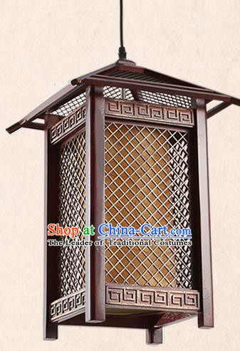 China Handmade Parchment Lantern Traditional Lanterns Wood Palace Hanging Lamp