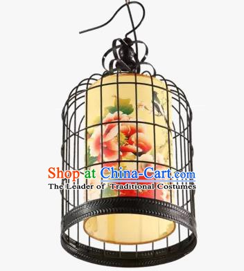 China Handmade Ceiling Lantern Traditional Birdcage Hanging Lanterns Palace Lamp