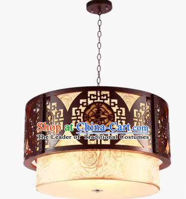 China Handmade Ceiling Lantern Traditional Wood Carving Hanging Lanterns Palace Lamp