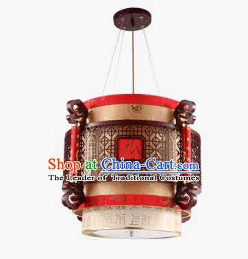 China Handmade Wood Ceiling Lantern Traditional Hanging Lanterns Palace Lamp