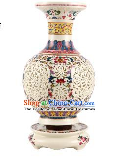 Asian China Desk Lanterns Traditional Chinese Ancient Colorful Porcelain Bottle Lamp Palace Lantern