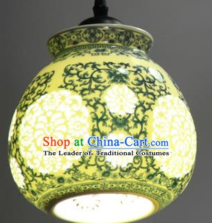 China Handmade Ceramics Lantern Traditional Lanterns New Year Palace Ceiling Lamp