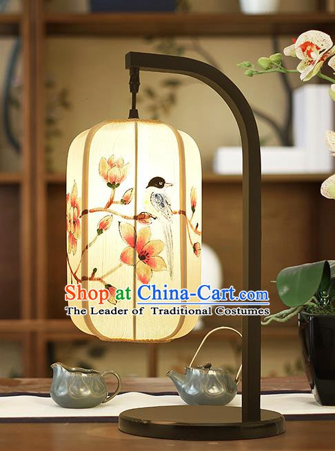 Asian China Style Lanterns Traditional Chinese Ancient Birds Flowers Desk Lamp Palace Lantern