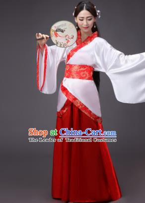 China Ancient Han Dynasty Princess Wedding Hanfu Dress Clothing for Women