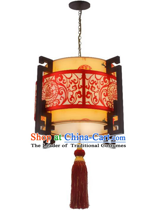 China Ancient Handmade Wood Hanging Lantern Traditional Ceiling Lamp Palace Lanterns