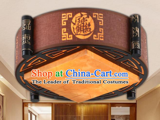 China Ancient Handmade Wood Lantern Traditional Carving Ceiling Lamp Palace Lanterns