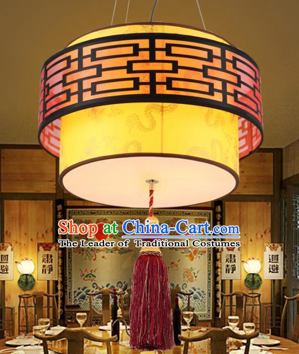 China Ancient Handmade Wood Lantern Traditional Hanging Ceiling Lamp Palace Lanterns