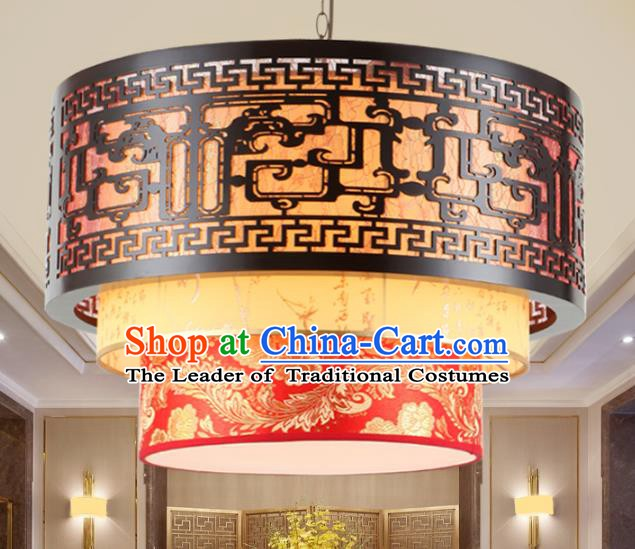 Chinese Handmade Carving Lantern Traditional Palace Ceiling Lamp Ancient Hanging Lanterns