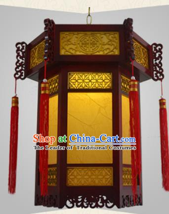 Chinese Handmade Palace Wood Lantern Traditional Hanging Lantern Ceiling Lamp Ancient Lanterns