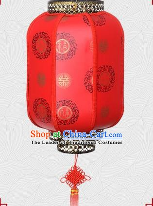 Chinese Handmade Palace Lantern Traditional Longevity Character Hanging Lantern Red Ceiling Lamp Ancient Lanterns