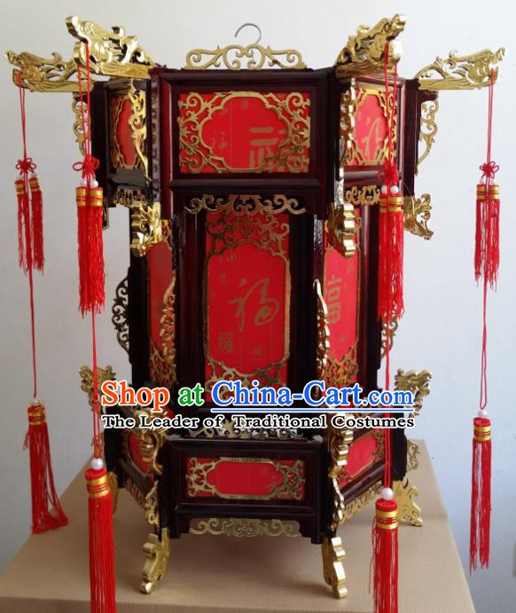 Chinese Handmade Red Palace Lanterns Traditional New Year Hanging Lantern