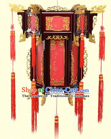 Chinese Handmade Red Fu character Palace Lanterns Traditional New Year Hanging Lantern