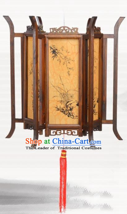 Chinese Ancient Handmade Printing Wood Palace Lanterns Traditional Hanging Lantern