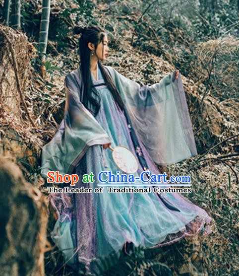 China Tang Dynasty Princess Costume Ancient Palace Lady Embroidered Dress for Women