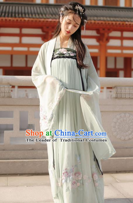 Ancient Chinese Tang Dynasty Palace Princess Embroidered Dress for Women